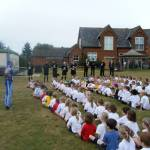 Sporty guests visit Browick Road Infant
